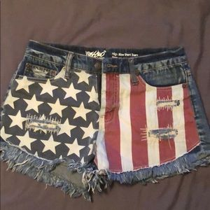 Patriotic Red White and Blue Jean Shorts